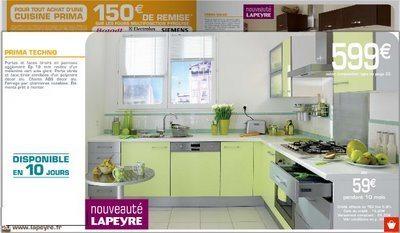 Cuisine lapeyre moins ch re interieur decoration for Catalogue cuisine lapeyre